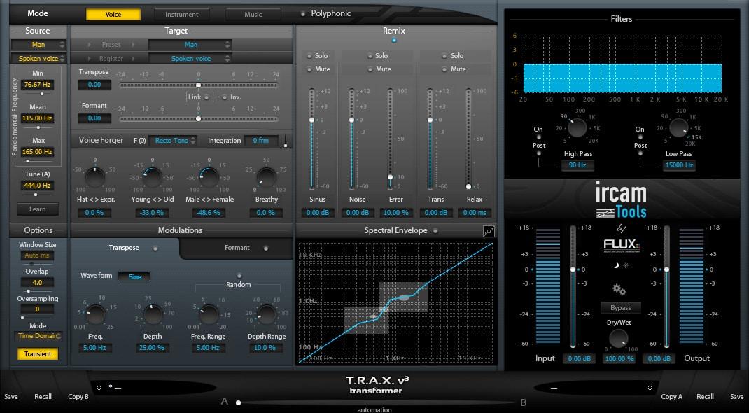 Ircam Trax for Mac OS X full screenshot