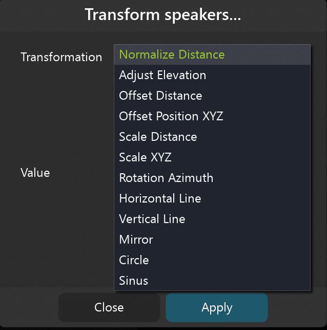 Speaker Arrangement